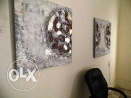 Set of two new paintings modern both $50