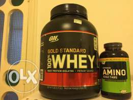 Gold standard Whey + Amino 2222 tabs never opened