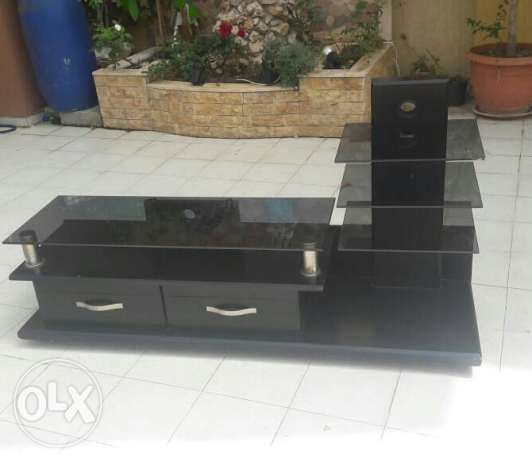 Stand table black matte
