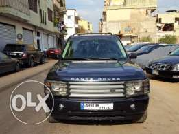 Range Rover Vogue HSE-2003-Dark Blue-Beige Leather-Sunroof-DVD-Navi