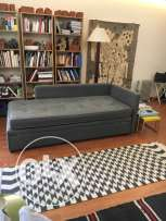 Meridienne double couchage couch divan