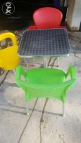 Beaitiful color chairs and tables!