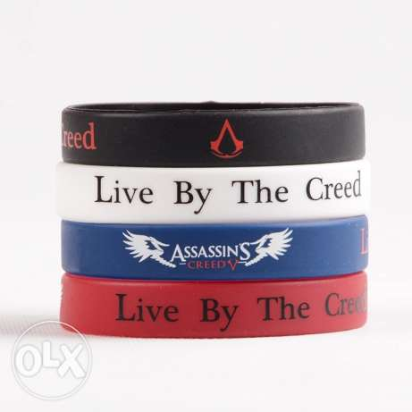 Assassins Creed Game Wristband Bracelet 4pcs/set with Gift Box