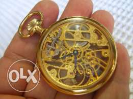 Fabulous Swiss Made Skeleton Pocket watch Ca 1950's. Mint condition