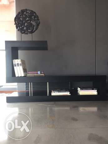 Decorative book and TV stand