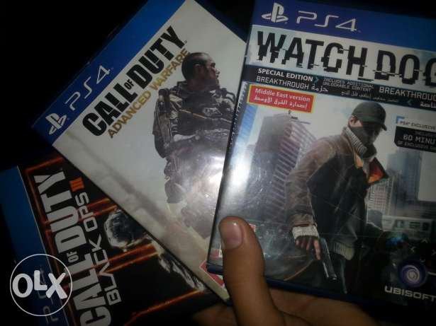 Watchdogs and BO3 and Advanced warfare for ps4 الشياح -  1