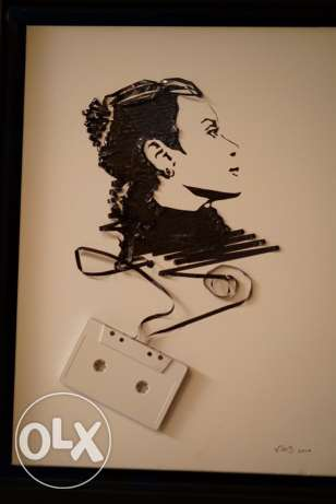 we turn your portrait into an amazing Tape Art piece!