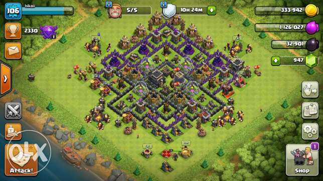 Clash of clans 50$ townhall 9