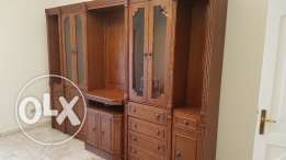 Wooden Armoire and Display cabinet