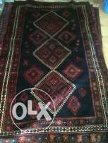 hand knotted old Persian carpet Achfar