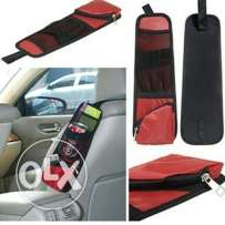 Car driver seat side storage pocket
