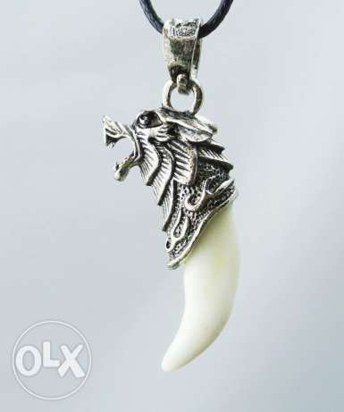 Wolf Tooth Necklace & pendants Domineering Courage الدورة -  4