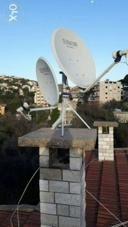 2 satellites dishes