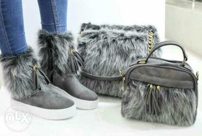furr shoes and bags set