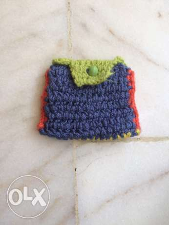 A handmad crochet small bag