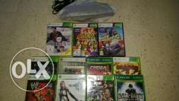 Xbox 360 Kinect camera+3 original Kinect cds+8 original nonkinect cds