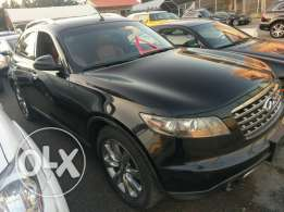 Infiniti fx35 fully loaded 2008 black on basketball