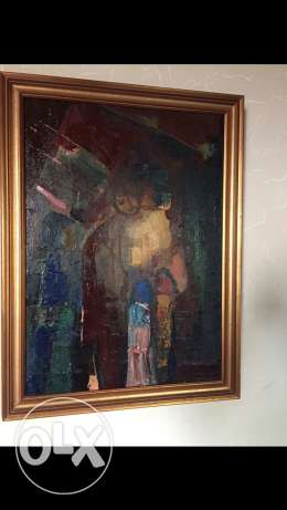 old Lebanese painting انطلياس -  1