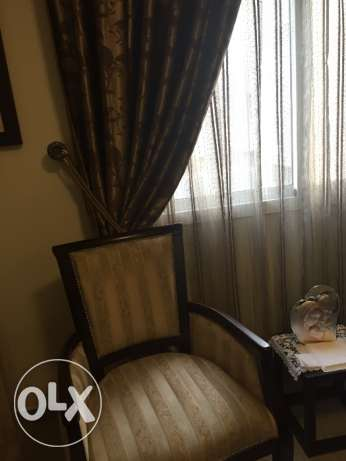 Salon with curtains for sale