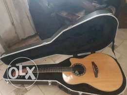 Acoustic guitar: Applause AE128 with Ovation hard case