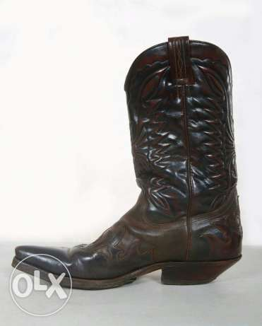 Cowboy leather boots for men