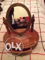 vintage mirror with jewellery box