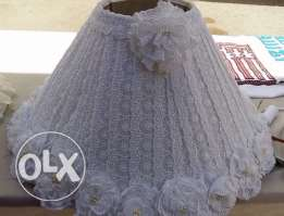 lace lamp shade with satin flowers