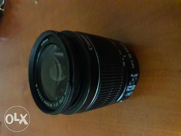 lens canon 18-55 mm like new (AF + Stabilzer)