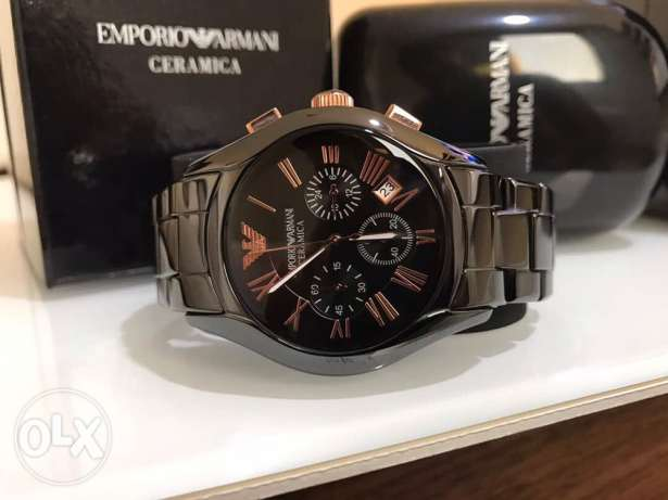 The black and bronze Emporio Ceramica for men