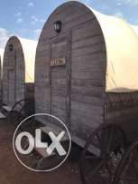 Horse Wagons Cabins with double size bed, 2 sofas, AC & sliding table