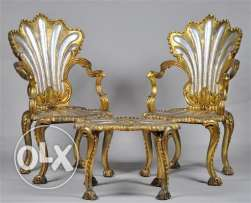pharaoh chairs + table