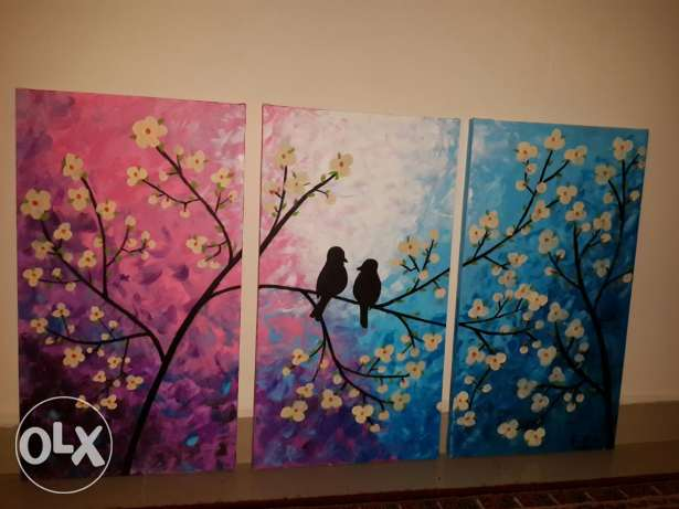 Acrylic birds painting