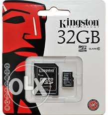 Kingston memory card 32 gb class 10 1 year waranty