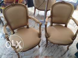 set of antique French chairs طقم كراسي فرنسي انتيك