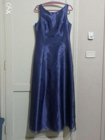Beautiful Dark Purple Evening Gown with shoulder wrap. Bought in US