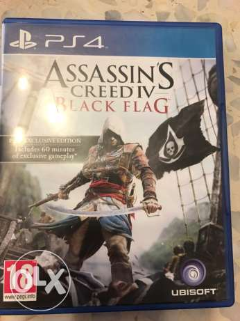 PS4-ASSASINS CREED BLACK flag for sale or trade بقنايا -  1