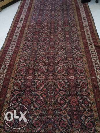 Over 100 years old antique Malayer Farahan carpet