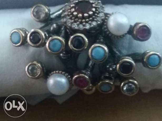 Original ring for women silver very old with semi precious stone. الشياح -  2