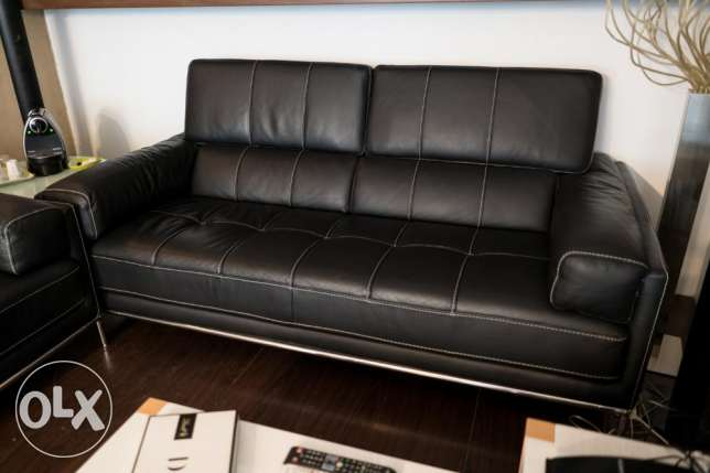 High End Leather Lounge - 2 Sofas