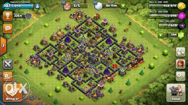 clash of clans lvl9 max حارة حريك -  1