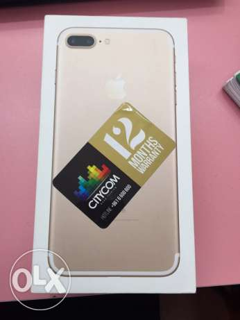 iphone 7 plus gold 32gb mosta3mal shaher