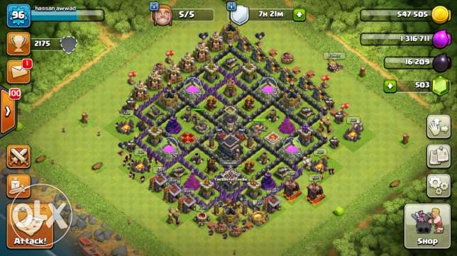 clash of clans townhall level 9 max