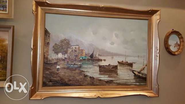Canadian Furniture - Signed Oil Painting