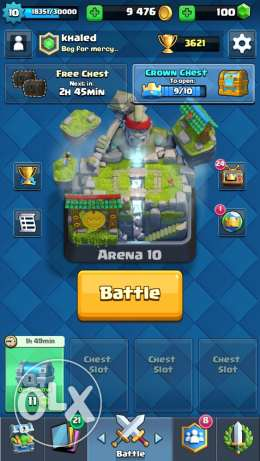 clash royale arena 10 account with change name