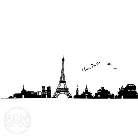 Eiffel tower wall vinyl stickers decal