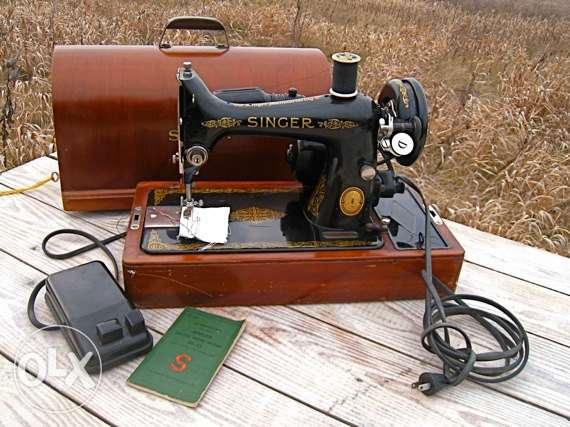 old. singer sewing machine electric