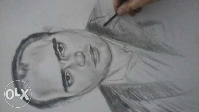 ارسم اي صورة بالفحم drawing any pic