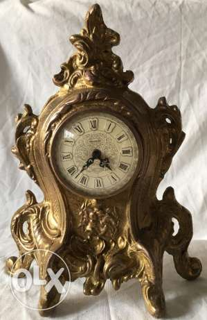 Mercedes clock from bronze made in Germany antique rare piece