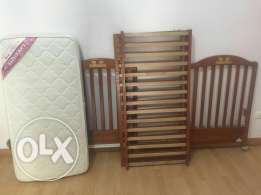 Baby bed until 5 yrs with FAP mattress