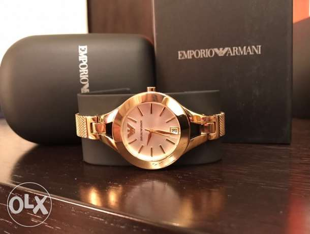 Golden EA Jewelery watch for women (brand new with the warranty)
